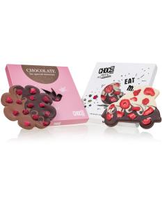 Chocolissimo - Sada čokolád - auto a kvetina 225 g