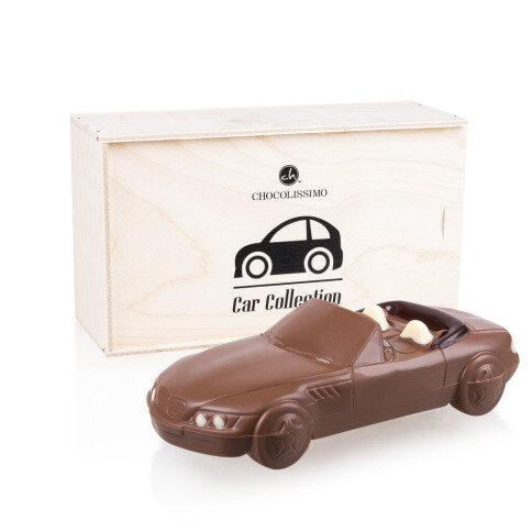 Chocolissimo - Čokoládová figúrka BMW Z3 v drevenej škatuľke 175 g