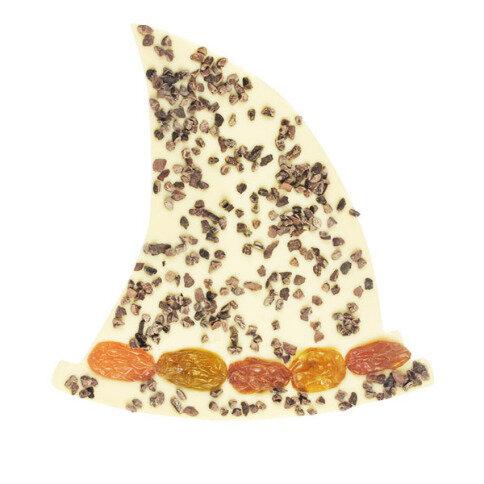 Chocolissimo - Čokoláda v tvare klobúka čarodejnice - biela čokoláda 125 g
