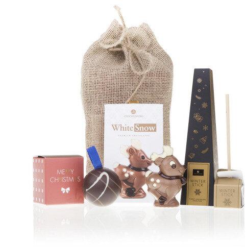 Chocolissimo - Taška z juty s vianočnými čokoládami 105 g