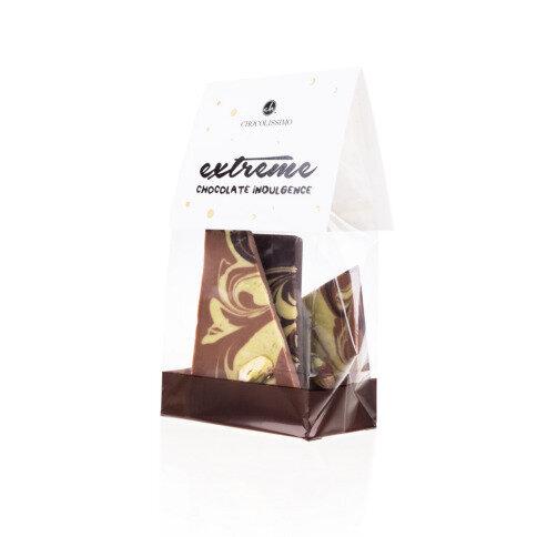 Chocolissimo - Mini mliečno-horká vianočná čokoláda - pistáciová 100 g