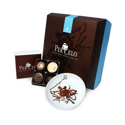Chocolissimo - Tanierik Piattino a čokoládové pralinky 50 g