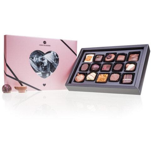 Chocolissimo - Bonboniéra s fotografiou v tvare srdca na Valentína 180 g
