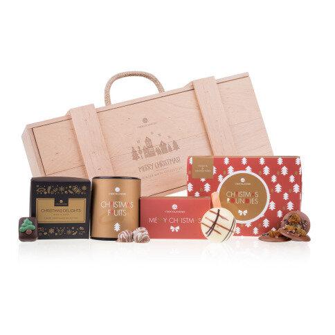 Chocolissimo - Drevená darčeková krabička so sladkosťami 380 g