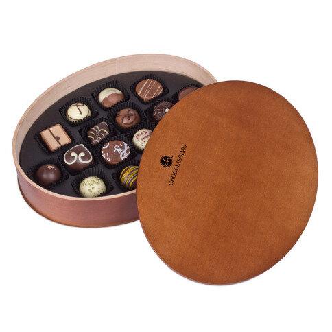 Chocolissimo - Darčekové drevené balenie praliniek 190 g