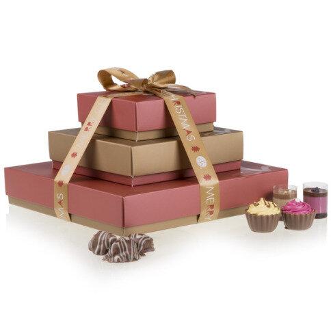 Chocolissimo - Vianočná sada 3 krabičiek so sladkosťami 400 g